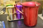 Aluminum pitcher & cups