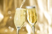 Une bouteille du champagne