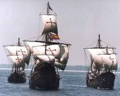 Columbus's fleet of ships for his expedition