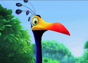 A cell lysosome is like Kevin the bird because he is like the trash can for the chocolate because he eats it all