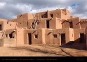 The Houses of the Tigua, a Pueblo