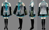 hastune miku costume ,teen/adult