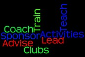 Sponsor Clubs and Activities