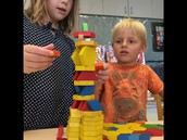 Pattern block tower
