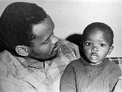 Steve Biko with his son