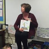 Miss Hays' 2nd & 3rd grade teacher, Mrs. Sherbert came to read!