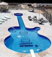 A Guitar Shaped Swimming Pool