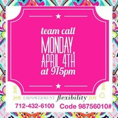 TEAM CALL TONIGHT!!