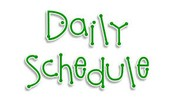 ***NEW*** DAILY SCHEDULE