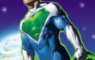 Super Lantern #3 (green, blue, and white)