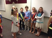 Safety Patrol members begin to gather prior to leading the Pledge.