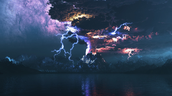 Thunderous Volcano Eruption