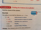 how to find the 'volume of a cylinder'