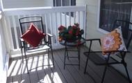 Private patios!