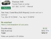 Car Rental Details