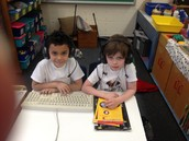 Hard at work in our space station!