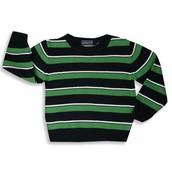 El suéter verde y negro