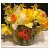 Short Monogrammed Vases