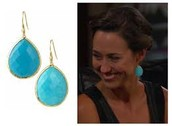 SERENITY STONE DROPS - TURQUOISE $17 (65% off)