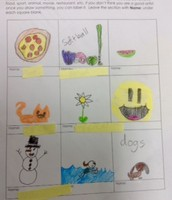 Second Grade - My Favorite Things Bingo