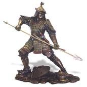 Samurai wielding spear