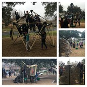 Our Panthers enjoying the new playground! Thanks Austin Parks & Rec!