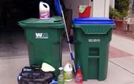 I sanitize trashcans