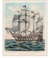 Sir Francis Drake's ship, The Golden Hind.
