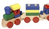 Melissa and Doug Wooden Train 9.99!