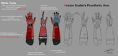 MGS 5 Snakes Prosthetic Arm Design