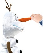 Pull the nose and Olaf would pull himself apart!
