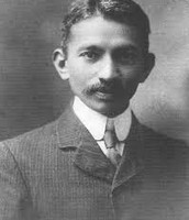 Gandhi as a young man