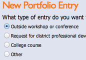 Adding a Portfolio Entry in Workshop