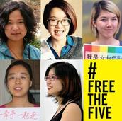 13.China: Alzamos la voz para liberar a los cinco #FreeTheFive