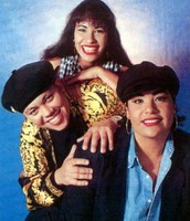 Selena with A.B. and Suzette Quintanilla.