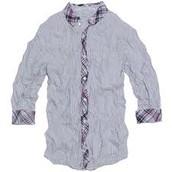 Wrinkled shirts.