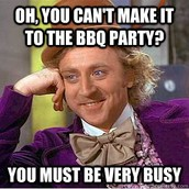Never too Busy for Free BBQ
