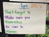 Tips..sentence starters.