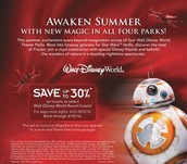 SAVE UP TO 30% ON ROOMS AT SELECT WALT DISNEY WORLD RESORT HOTELS THIS SUMMER!