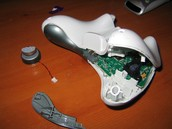 A photo of my broken remote
