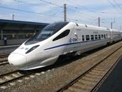 Modern Bullet Train in Beijing, China.