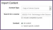 Import Course Content