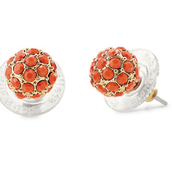 Soiree Studs (Coral)