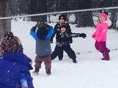 Playing Snow Tag