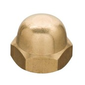 Brass-Plated Cap Nuts
