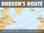 Hudson's travel routes