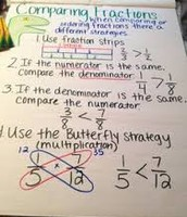 Butterfly Method Comparing Fractions