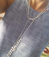 BRYNN LARIAT NECKLACE $59 (SILVER OR GOLD)