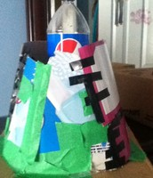 This is a picture of the side of my volcano