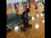 Trying new things in P.E. Class